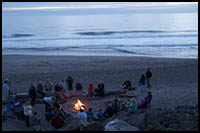 Come enjoy a bonfire on the beach at sea and sand rv park in depoe bay oregon
