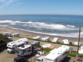 Sea And Sand Rv Park In Depoe Bay Oregon Offers Oceanfront Sites